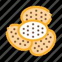 bakery, breakfast, cracker, delicious, food, heap, tasty
