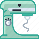 appliance, baking, food processor, kitchen, mixer, mixing, yumminky icon