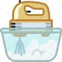 baking, cream, dish, kitchen, mixing, whipped cream, yumminky icon