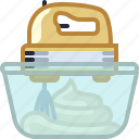 baking, dish, hand mixer, kitchen, mixing, whipped cream, yumminky icon
