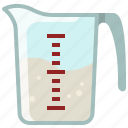 baking, cup, ingredients, kitchen, measuring cup, oil, yumminky icon