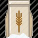 baking, dough, flour, ingredients, kitchen, wheat, yumminky icon