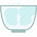 baking, dish, ingredients, kitchen, milk, water, yumminky icon