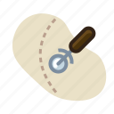 baking, cutting, dough, kitchen, pastry, tool, yumminky icon