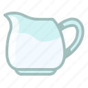 baking, jar, kitchen, milk, pitcher, water, yumminky icon