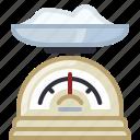 baking, flour, ingredients, kitchen, kitchen scale, scale icon