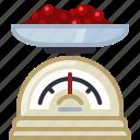 baking, ingredients, jam, kitchen, kitchen scale, strawberries, yumminky icon