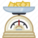 baking, butter, cooking, ingredients, kitchen, kitchen scale, yumminky icon