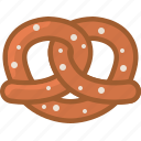 bakery, baking, food, gastronomy, kitchen, pretzel, yumminky icon