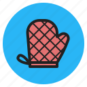 baking, gloves, kitchen, mitt, mitten, oven, tool icon