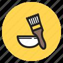 baking, bowl, brush, brushing, pastry, spreding, tool icon