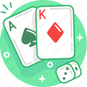 cards, casino, dice, game, play, poker icon
