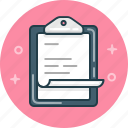 clipboard, document, report icon