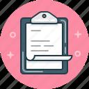 clipboard, document, report icon