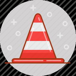 alert, cone, traffic icon