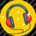 audio, headphones, multimedia, music icon