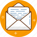 communication, envelope, letter, mail, message icon