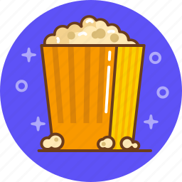 cinema, film, movie, popcorn icon
