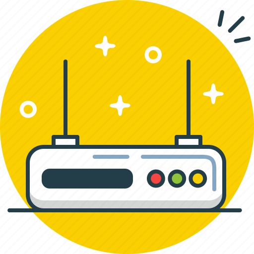 internet, modem, router, signal, wifi, wireless icon