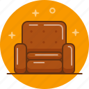 chair, home, interior, seat, sofa icon