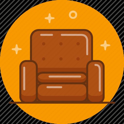 chair, home, interior, seat, sofa icon