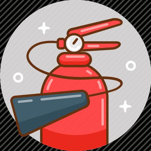 extinguisher, fire, tools icon