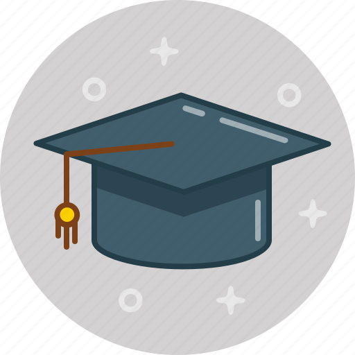 college, education, graduate, hat, school, student, study icon
