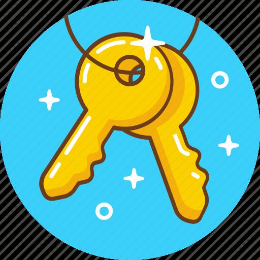 key, keys, keyset icon