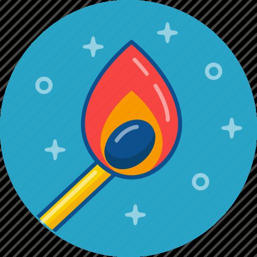 fire, match icon