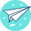 message, paper, plane icon