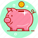 coin, money, pig, saving, savings icon
