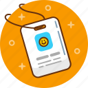 badge, card, id, id card, identification, identity icon