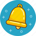 alert, attention, bell, hand bell, reminder, ring icon