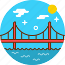 bridge, city, road icon