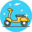 hipster, motorbike, motorcycle, scooter, transport, vespa icon