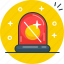 alarm, flasher, warning icon