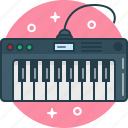 instrument, keyboard, keys, midi, music, piano, synthesizer icon