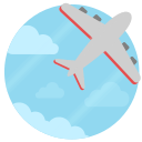 fly, travel, place, soar icon
