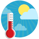 celcius, clouds, farenheit, sunshine, temerature, thermometer, weather icon