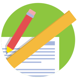 measure, pencil, ruler, school, work icon