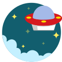 alien, martian, space, out of space, ufo icon