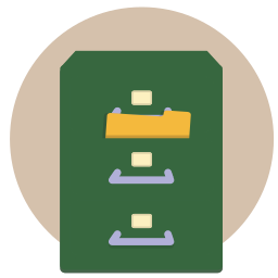 documents, filing, folder, office, papers, storage icon