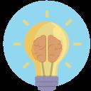 brilliance, idea, think, thought, lightbulb icon