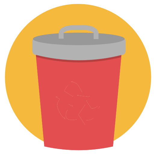 bin, can, eco, recycle, rubbish, trash icon