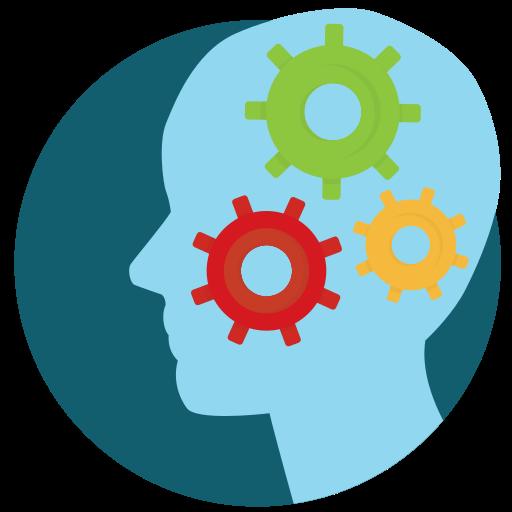 brain, mind, process, think icon