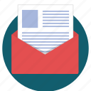 email, envelope, letter, mail, send, sent icon