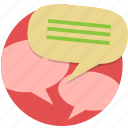 chat, instant message, message, speech bubble, talk