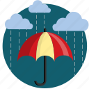 cloud, clouds, cover, protect, rain, shade, umbrella icon