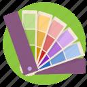 color pallet, colors, fan, pallet
