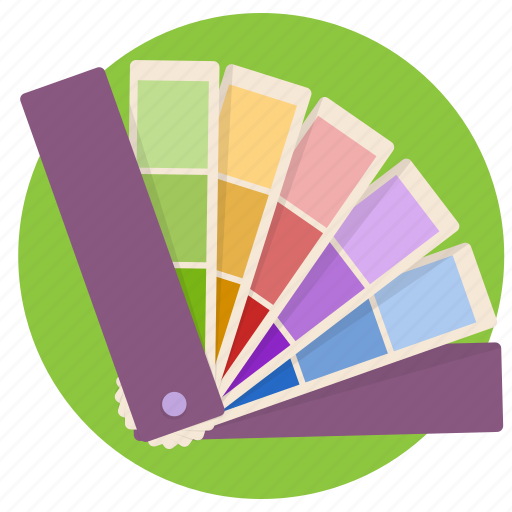 color pallet, colors, fan, pallet icon